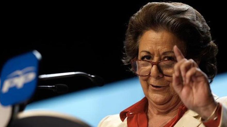 La exalcaldesa de Valencia y actual senadora, Rita Barberá