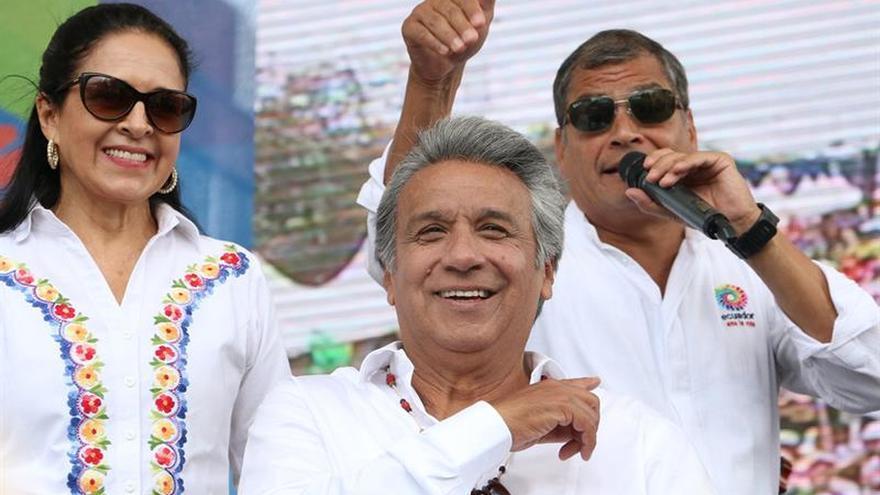 Oficialismo de Ecuador celebra triunfo con concentración por la paz y alegría