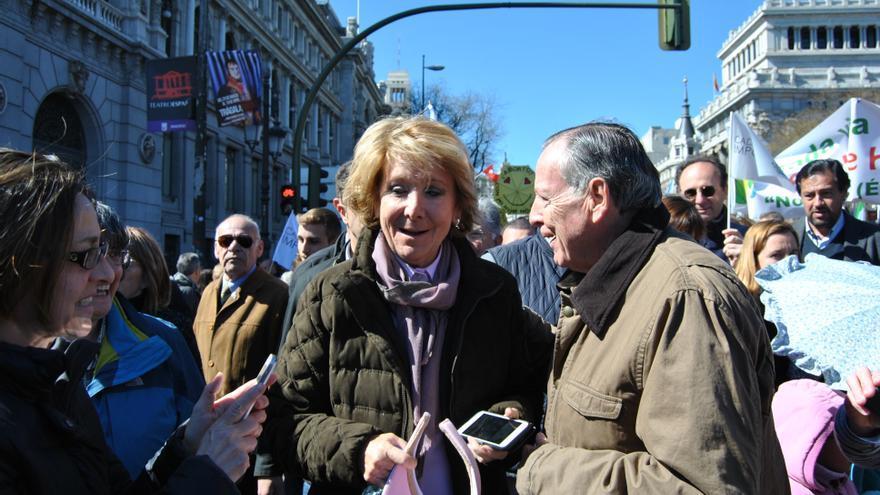 Esperanza Aguirre en la manifestación antiabortista en Madrid. MERCEDES DOMENECH