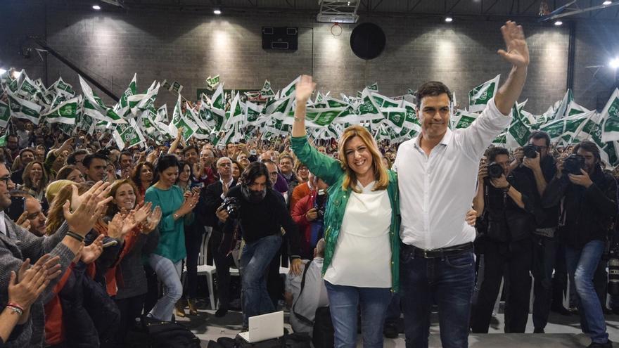 Pedro Sánchez y Susana Díaz participan este sábado en un mitin en Sevilla, su primer acto juntos en campaña