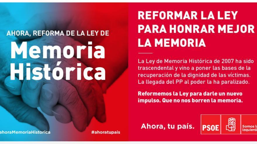 El PSOE propone reformar la ley de Memoria Histórica.