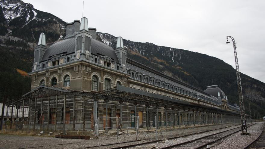 Edificio principal de la Estación de Canfranc.