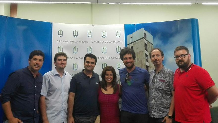 En la imagen, miembros del equipo de rodaje y de Film Commission.