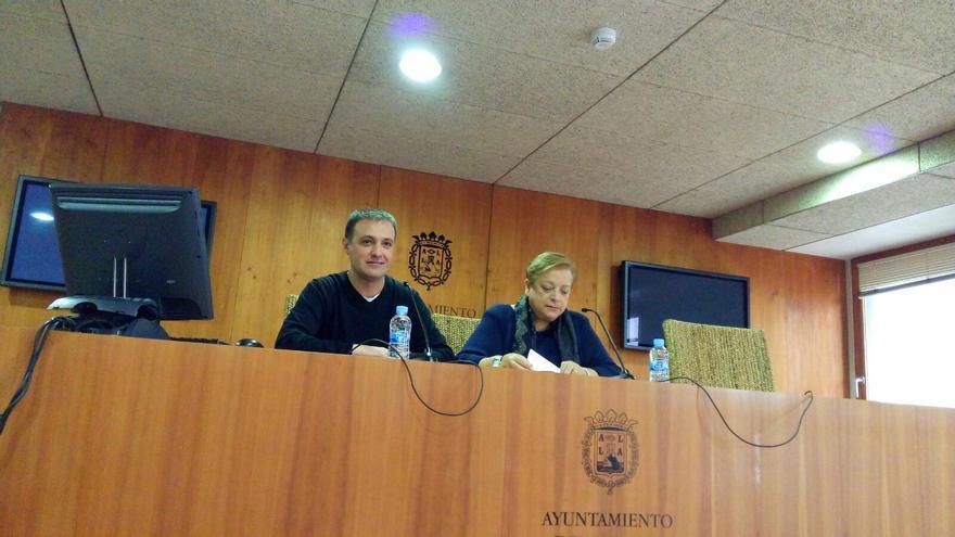 Los ediles en Alicante Natxo Bellido y Sofía Morales
