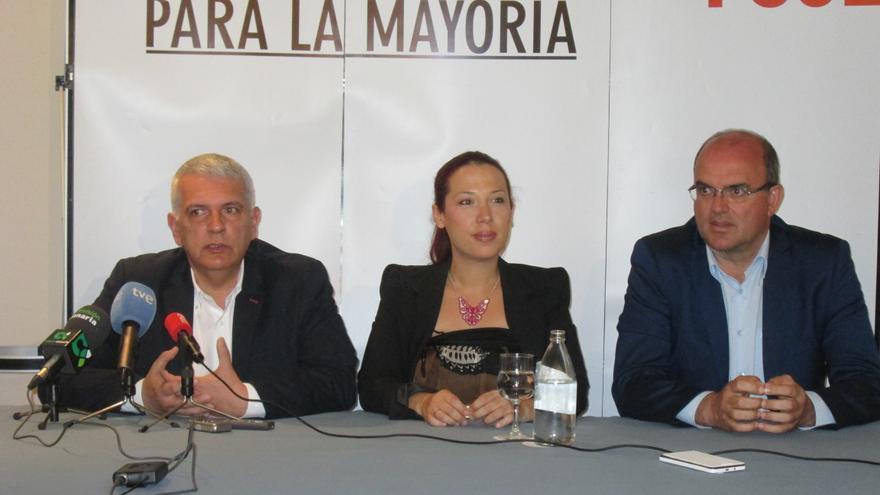 Manuel Marcos PÉrez, Patricia Hernández y Anselmo Pestana, este viernes. Foto: LA PALMA AHORA