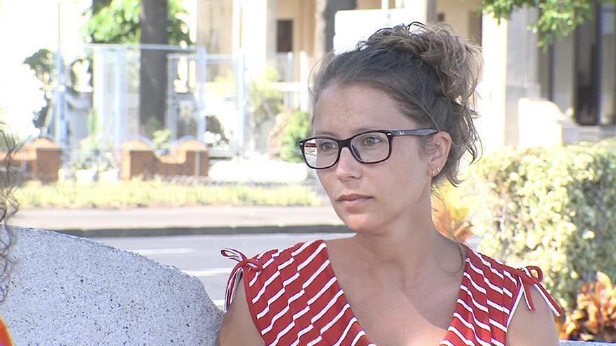 Macarena Orosas, presidenta de la asociación memorialista RANZ-Orosas, que ha llevado a los juzgados a Santa Cruz de Tenerife.