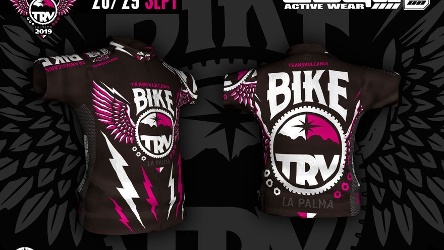 Diseño de la marca Tuga de la camiseta oficial de  Transvulcania Bike.